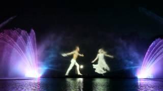 Фонтаны в Виннице. Лазерное шоу. Часть 5(Фонтаны с лазерным шоу в Виннице, возле завода