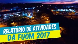 RELATÓRIO DE ATIVIDADES DA FUOM DE 2017