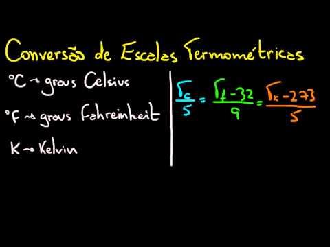 Conversão de Escalas de Temperatura (Celsius, Fahreinheit e Kelvin) | Matemática na Física