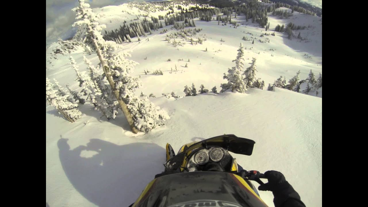 Accidental Cliff Jumping YouTube - This is what happens when you fly a snowmobile off a cliff