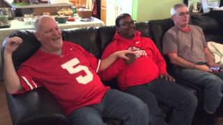 Deaf-Blind guys watched OSU vs ND football game