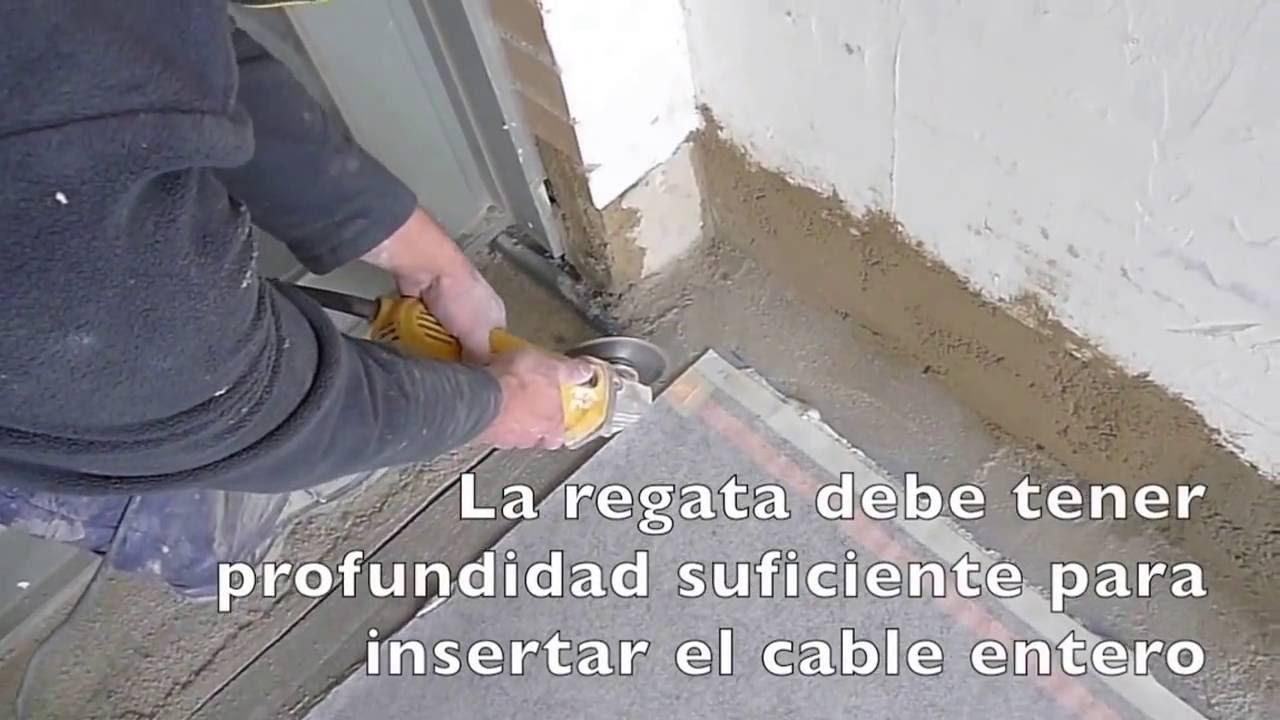Instalaci n de suelo radiante el ctrico paso 3 realizacion de regatas youtube - Folio radiante electrico ...