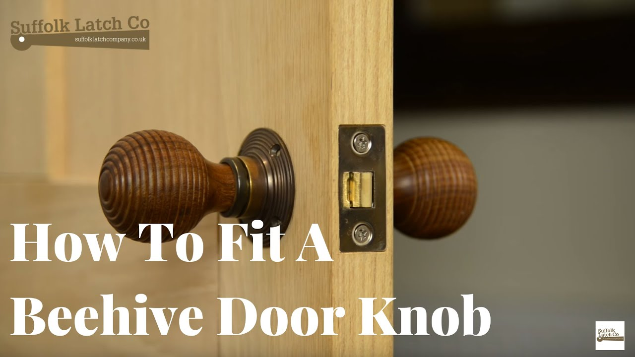 How to Install a Door Knob, Rosewood Beehive Unsprung Knob Set - YouTube