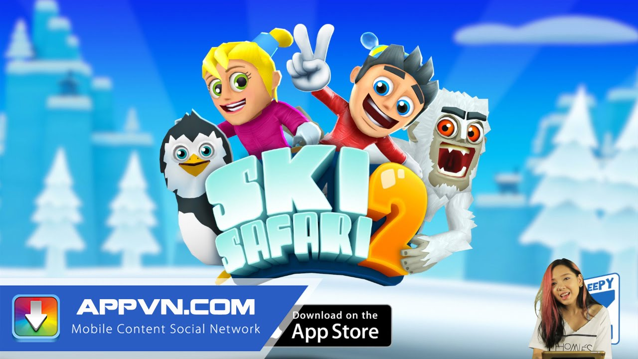 [Game] Trượt tuyết siêu dễ thương cùng Ski Safari 2 – Appvn
