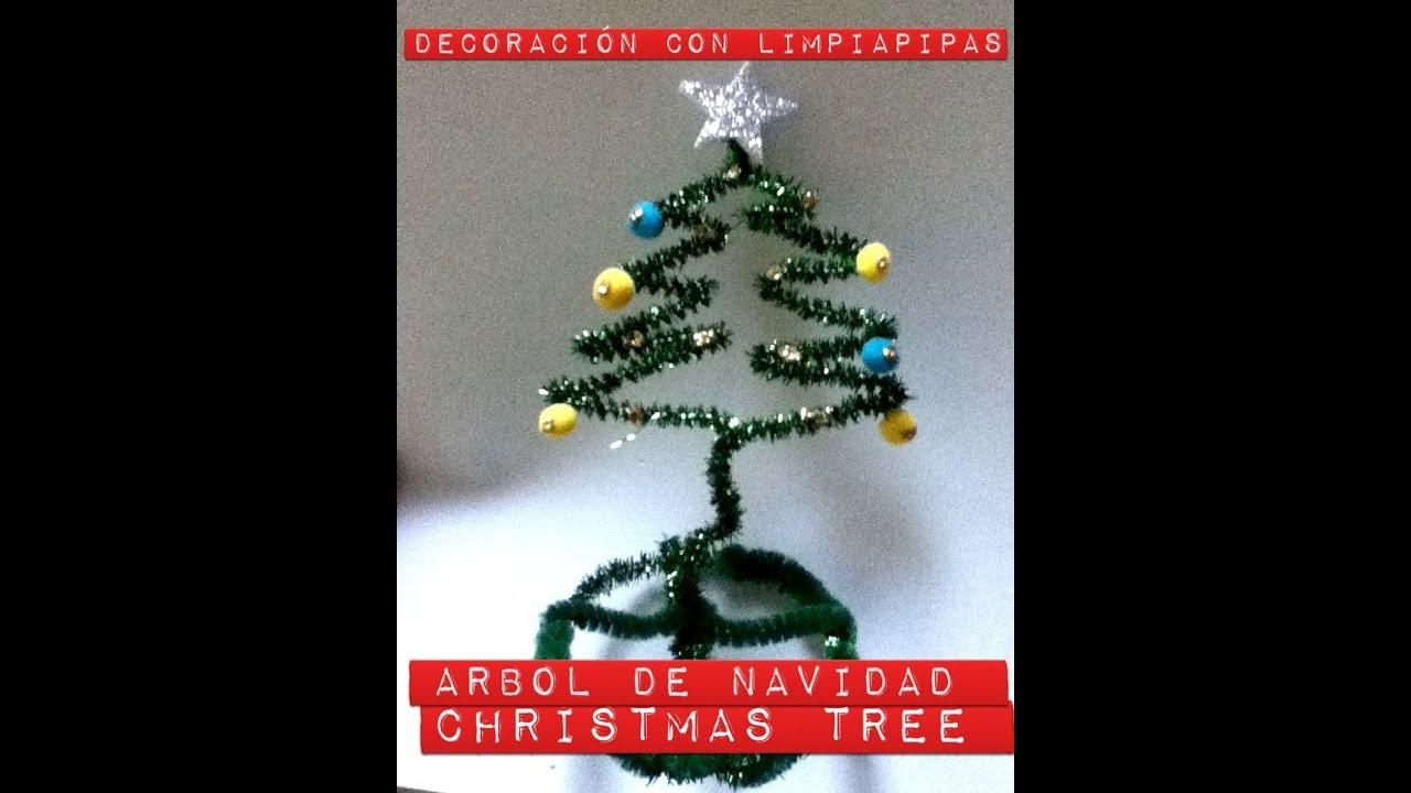 Como hacer un rbol pino para decorar con limpiapipas - Como decorar un arbol de navidad ...