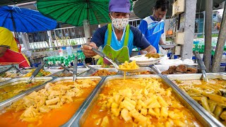 $1 Curry Dinner!! Night Market STREET FOOD Tour!   Trang (ตรัง), Thailand