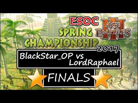 🌟$1500 GRAND FINALS: BlackStar_OP vs LordRaphael — ESOC Spring Tournament [AoE3]