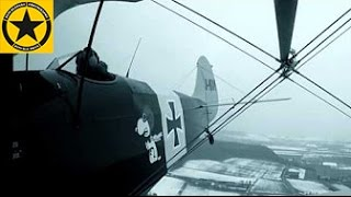Kiebitz Doppeldecker 15kn Crosswind full Rudder nasty Snow Storm Flight