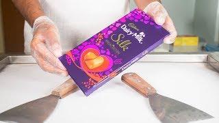 Valentine's Day Special Dairy Milk ICE CREAM ROLLS - SATISFYING ASMR
