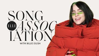 Gambar cover Billie Eilish Sings Miley Cyrus, H.E.R., and P!nk in a Game of Song Association | ELLE