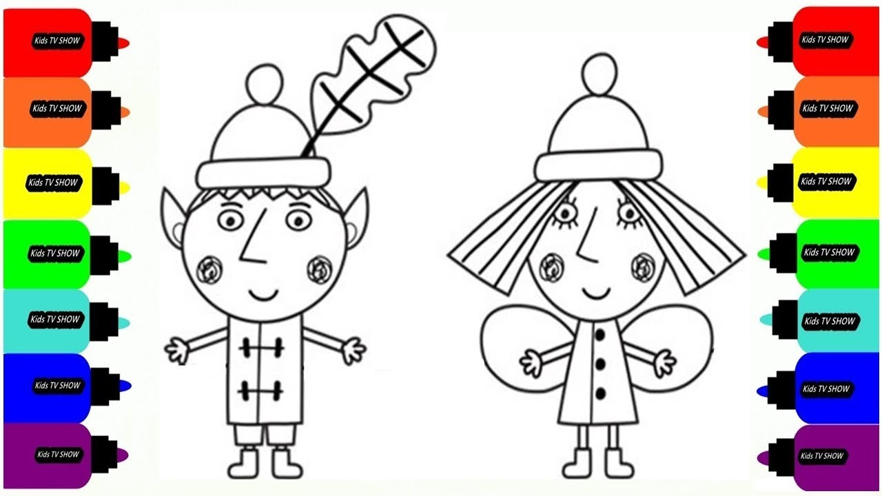 Coloring Ben And Holly Coloring Pages For Kids Art Colors For
