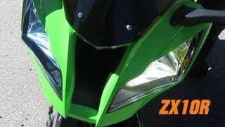 Kawasaki NINJA ZX10R with Akrapovic Exhaust System + Other sexy Bikes!