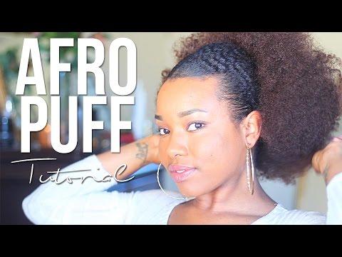 Afro Puff Tutorial
