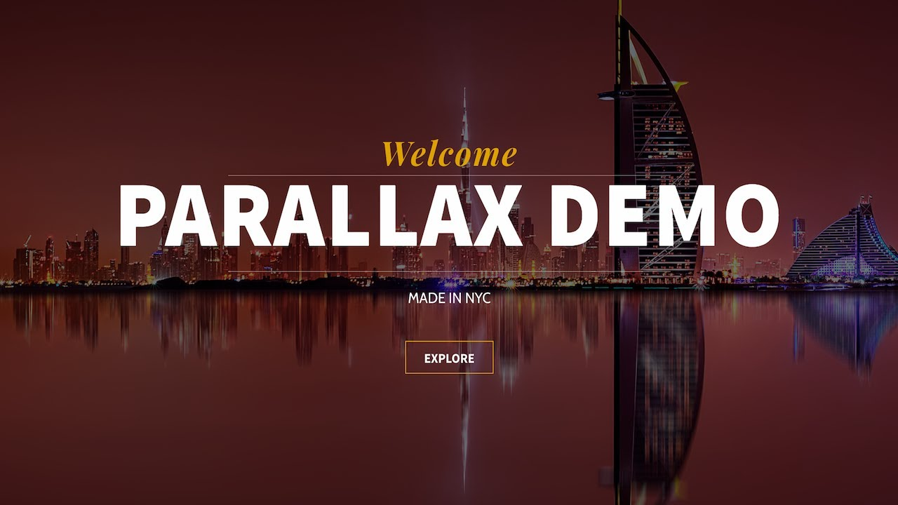 how to make a parallax wordpress website for free 2018