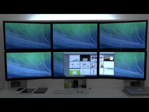 Video: OS X Mavericks's enhanced multi-monitor mode demonstrated