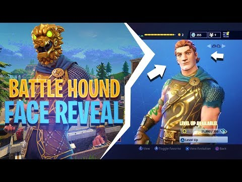 BATTLE HOUND FACE REVEAL! (New Legendary Skin) - Fortnite: Battle Royale