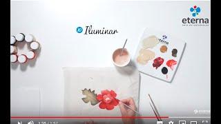 Flores pintadas sobre Tela