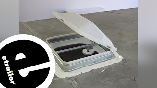 etrailer | Ventline Ventadome Trailer Roof Vent Installation