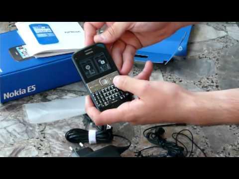 Nokia E5 Unboxing