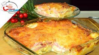 lasaña de papa y jamón la mejor receta