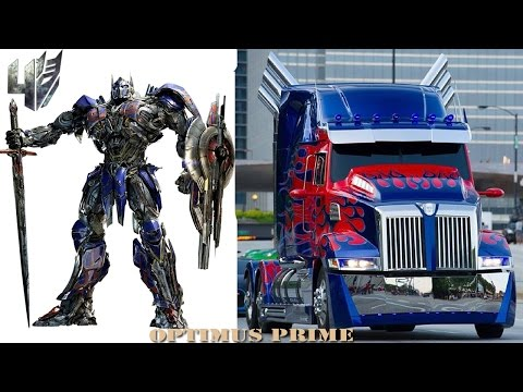 Transformers 4 Characters Cars & Trucks in Real Life
