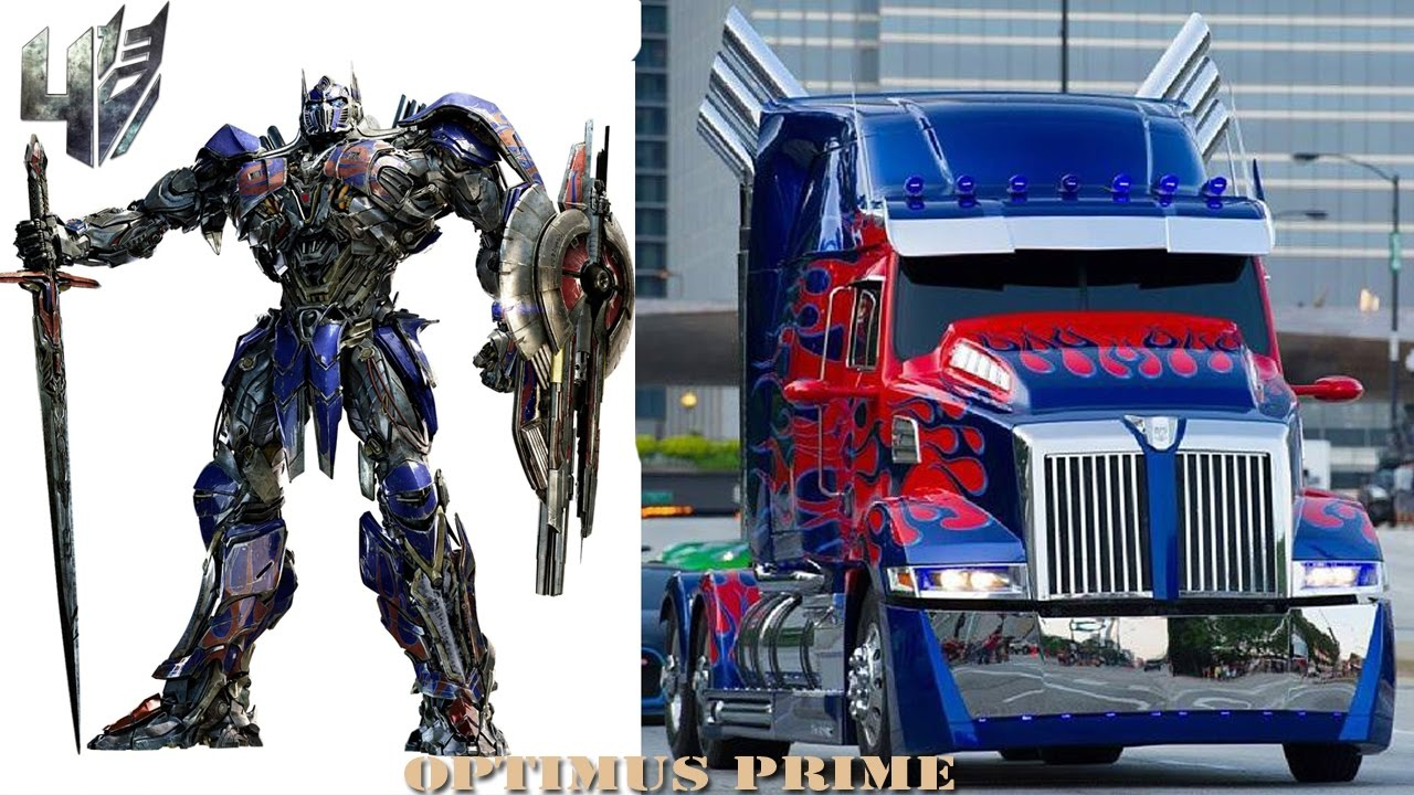 Transformers 4 characters cars trucks in real life