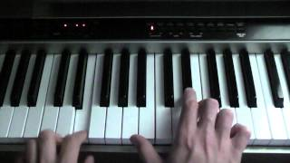 How to play Coldplay - I Ran Away on piano (Bridge)