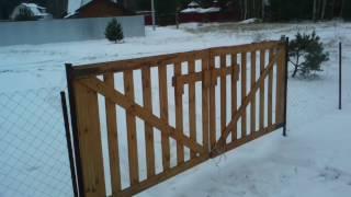 Ворота для дачи своими руками (фото и видео)