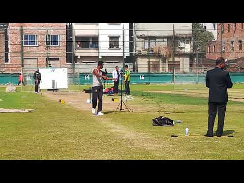 Bowling test of Al-amin hossain