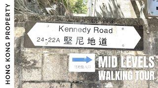 [4K] 🇭🇰 Hong Kong Walking and Neighbourhood Tour | Kennedy Road (No Sound)