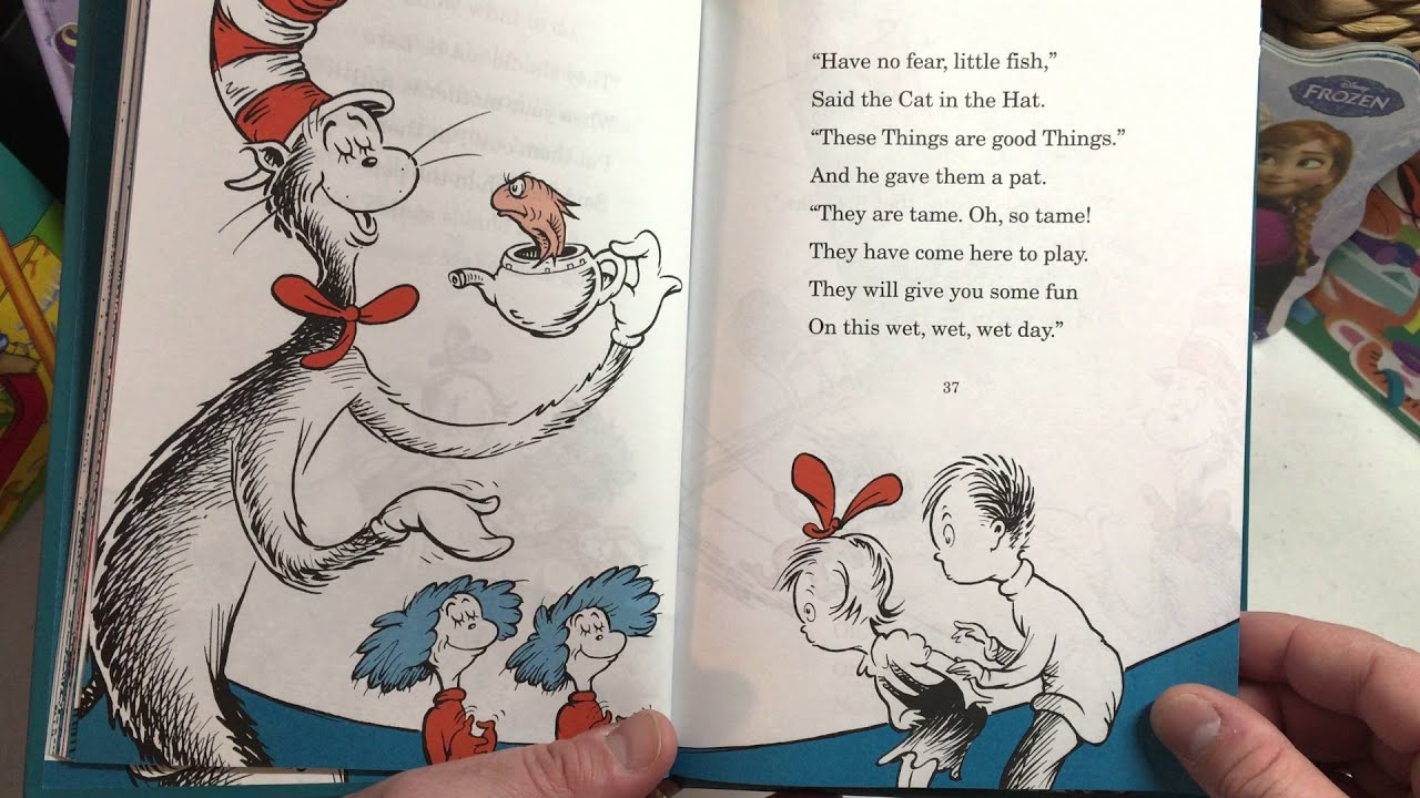 the cat in the hat childrens book by dr seuss read aloud by papa bear youtube