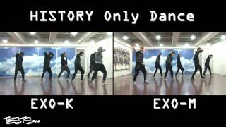 Repeat youtube video EXO K EXO M   History Dance practice