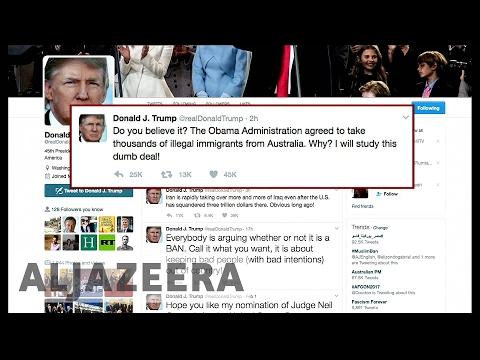 Australia refugee deal: Trump tweet endangers agreement