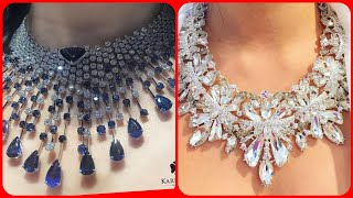 Very beautiful diamond jewellery necklace collection