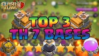 Clash Of Clans - TH7 BEST Town Hall 7 DEFENSE STRATEGY - War/Trophy/Hybrid/Farming Base Defense 2015
