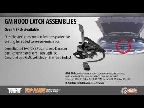 Highlighted Part: Hood Latch Assembly for Select Cadillac, Chevy