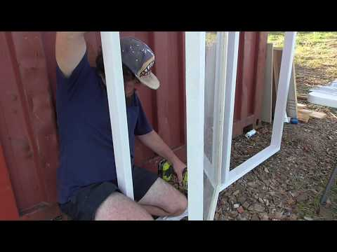 Window Frame Build Shipping Container Tiny Home Project