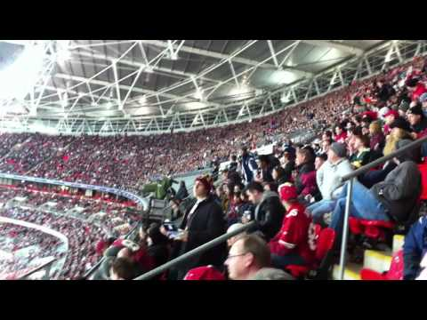 Wembley Stadium Filled to Capacity - The Wave