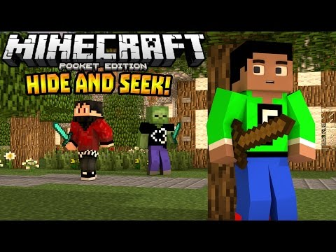 HIDE AND SEEK MINIGAME in 0.14.0!!! - MCPE BrokenLens Server - Minecraft PE (Pocket Edition)