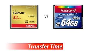 Data Transfer - Transcend 400X CompactFlash/CF vs SanDisk Extreme CompactFlash/CF 120MB/s 800x