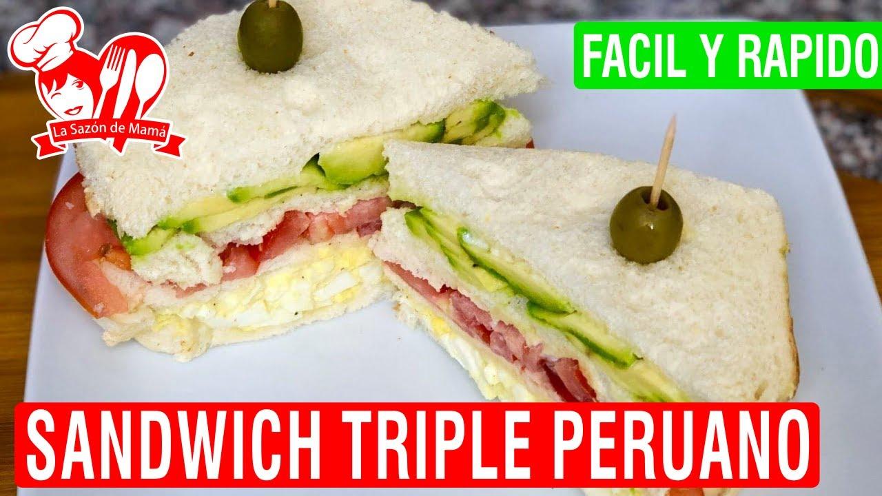 sandwich triple de pollo peruano