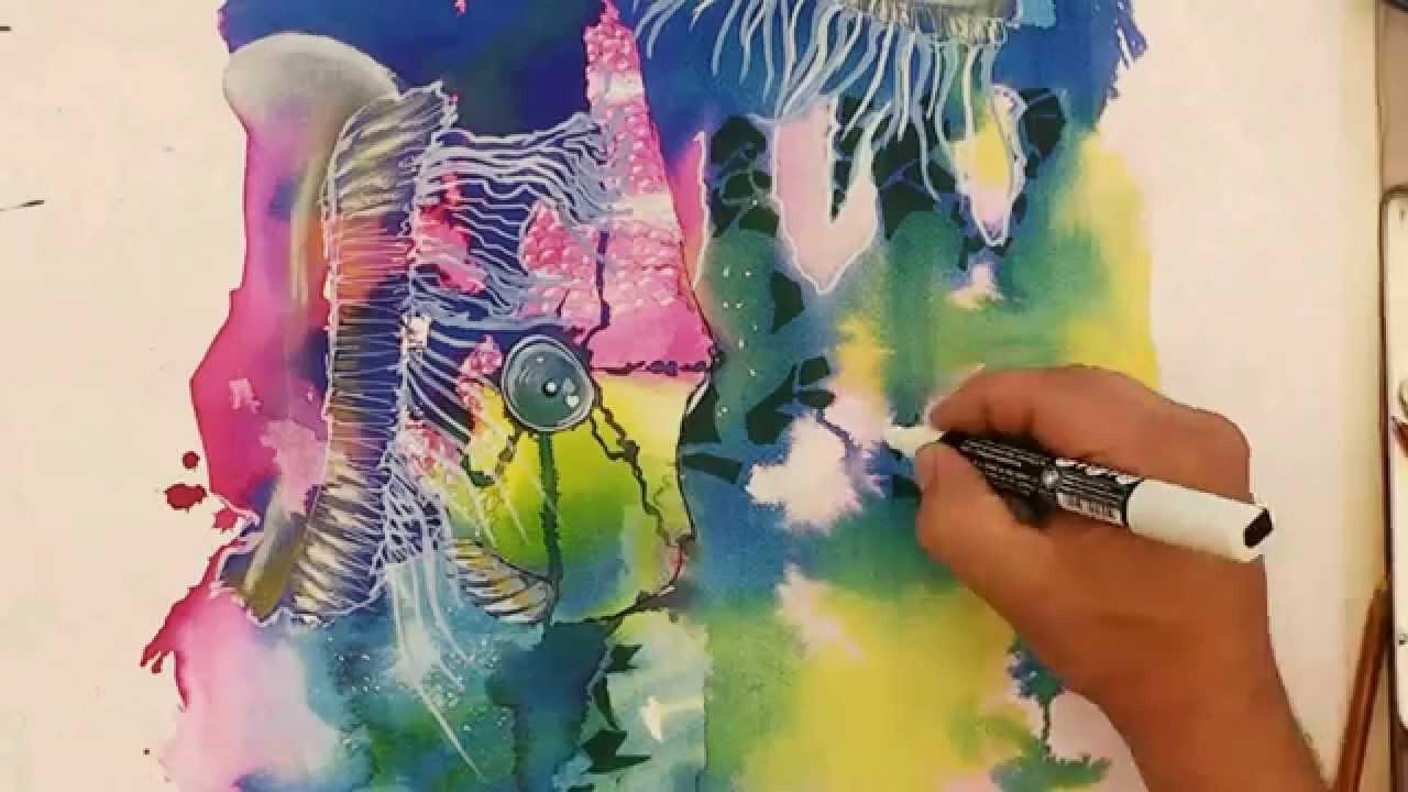Maremagnum Dibujo Y Pintura Freestyle Tecnicas Mixtas 50x70 Cm