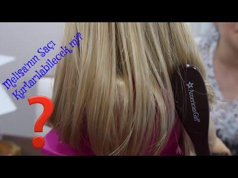 Oyuncak Bebeğim Melisa'nın Sarı Saçları Kurtarılabilecek mi? Trend Kuaförcülük Oyunu Bidünya Oyuncak