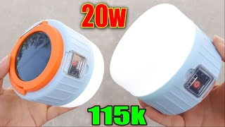 Đèn Tích Điện Năng Lượng Mặt Trời Giá Rẻ - Mùa Lũ Lụt Này Không Cần sạc pin luôn