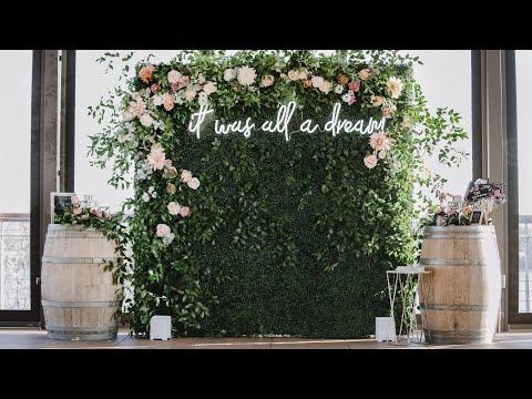 Rustic Glam Diy Greenery Backdrop Wall Box Wood Hedge