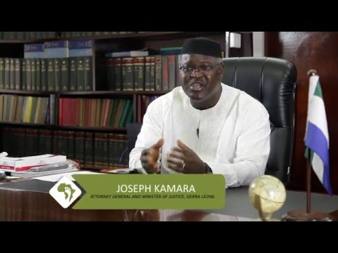 Footprint to Africa interviews Joseph Kamara, Attorney General and Minister of Justice, Sierra Leone