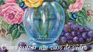 Como Pintar um Vaso Transparente no Tecido