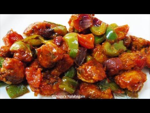 Chilli Mushroom Restaurant Style Chilli Mushroom Dry Recipe Mushroom Chilli Recipe Youtube