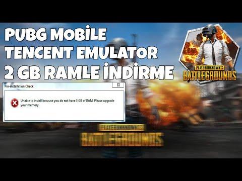 PUBG MOBILE EMULATOR 2 GB RAM İLE İNDİRME !! %100 ÇALIŞIYO (2019)