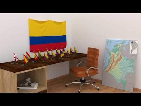 Himno y banderas de Colombia | Colombia flags and anthem